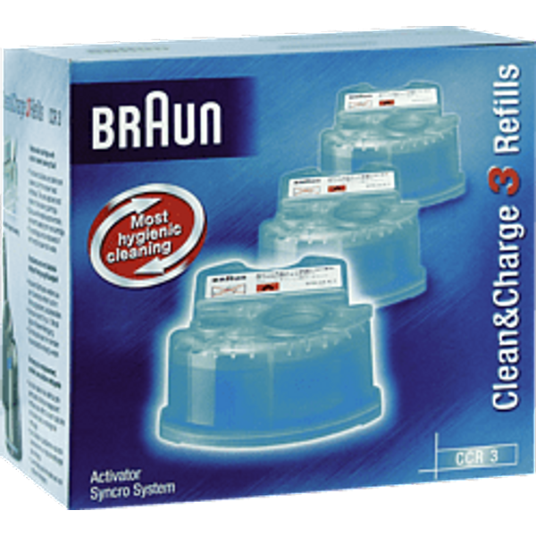 Braun Cleaning Cartridge for Activator, Synchro & Flex models (3)