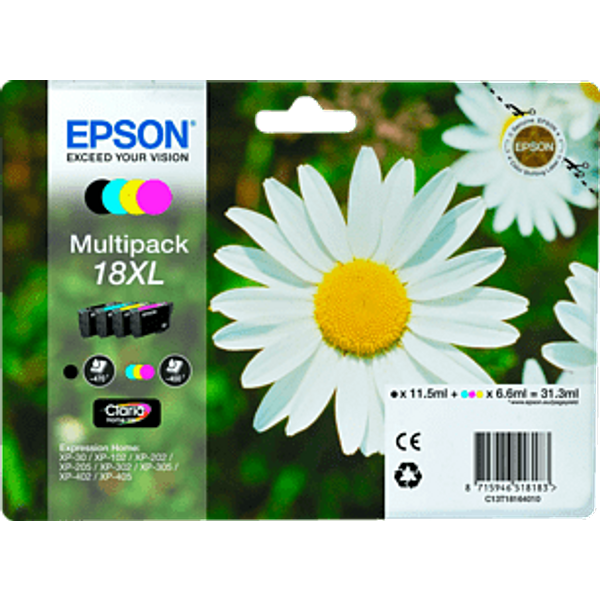 Epson Claria Home XL Multipack T 181 Bk/c/m/y T 1816