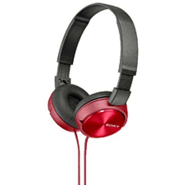 Sony MDRZX310 OnEar Headphones Metallic Red