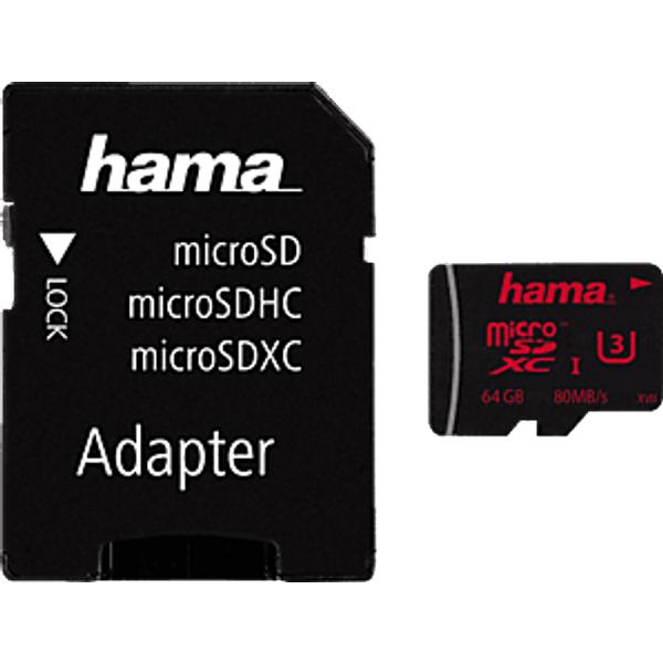 Hama - carte mémoire flash - 64 Go - microSDXC UHS-I