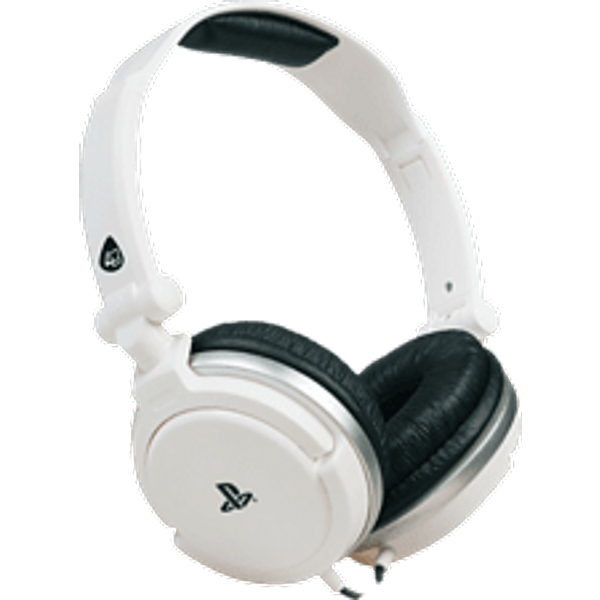 Casque stereo dual format blanc pour ps4 / ps vita