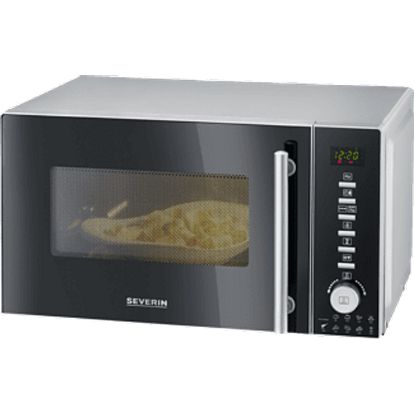 SEVERIN MW 7865 BLACK/SILVER - Micro-ondes avec fonctions Grillade & Air Chaud ()