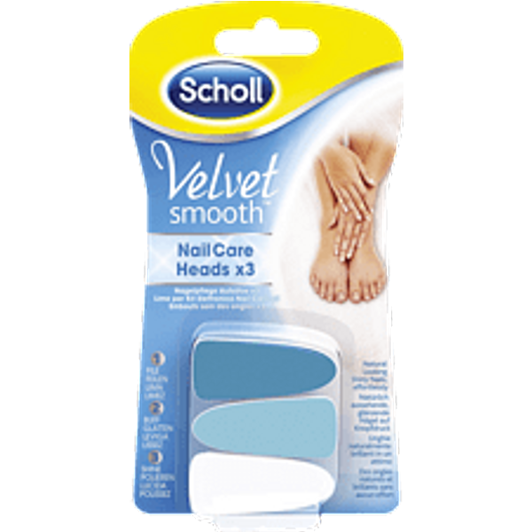 Scholl Velvet Smooth Nail Care 3x Replacement Heads