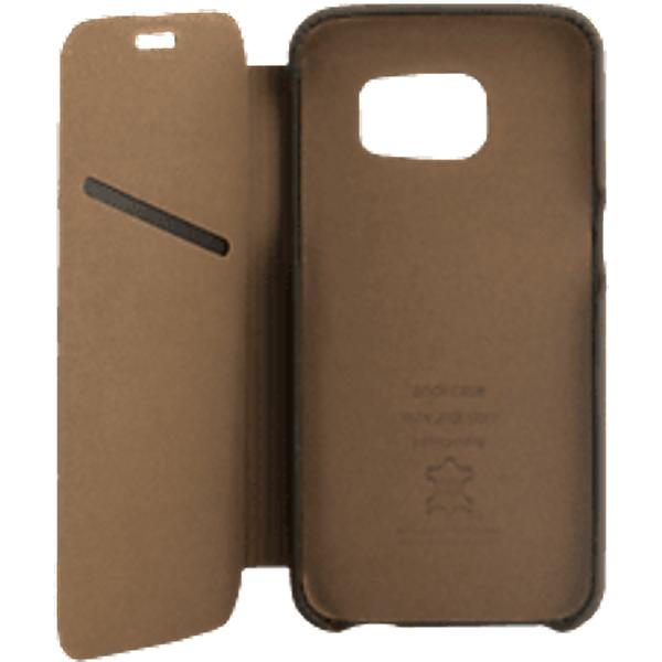 ANDI BE FREE Leather Book für Galaxy S8 Plus, braun