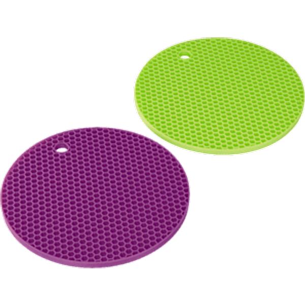 Xavax-dessous de plat silicone, vert/violet, 2 pièces