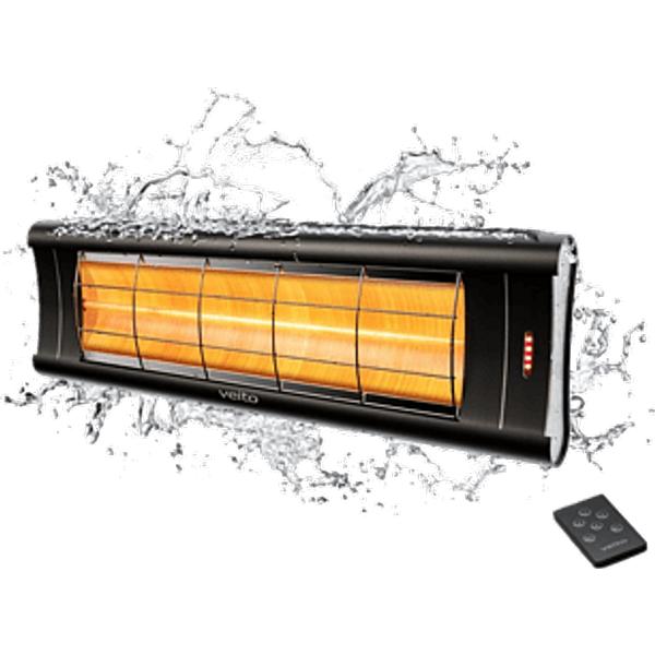Chauffage infrarouge 2500 w à télécommande - VEITO
