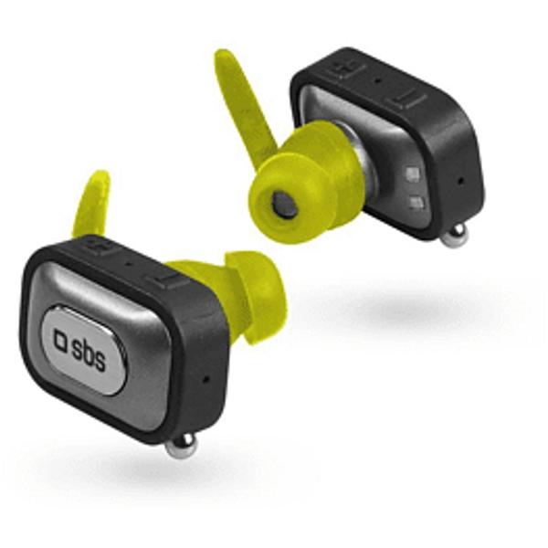 SBS Runner Twin - Écouteur True Wireless (In-ear, Noir)