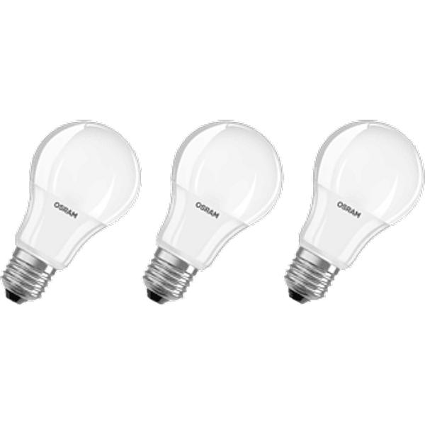 E27 9 W 827 LED bulb, matt, set of three (4052899955523)