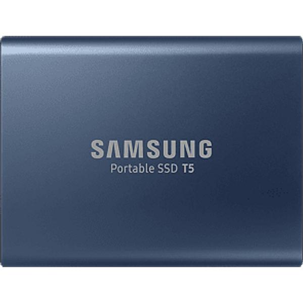 SAMSUNG Portable SSD T5 Disque dur ( 250 GB, Bleu)