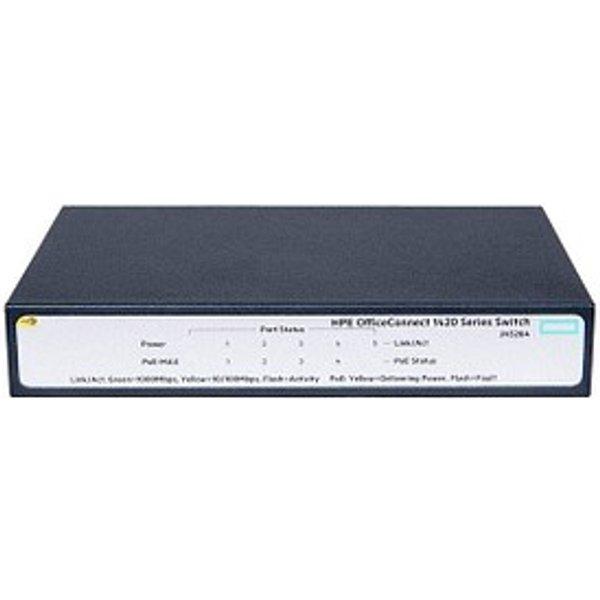 HPE OfficeConnect 1420-5G PoE+ 5-Port Gigabit PoE Switch
