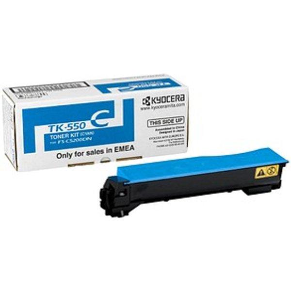 Kyocera TK-550C Original Cyan Laser Toner Cartridge