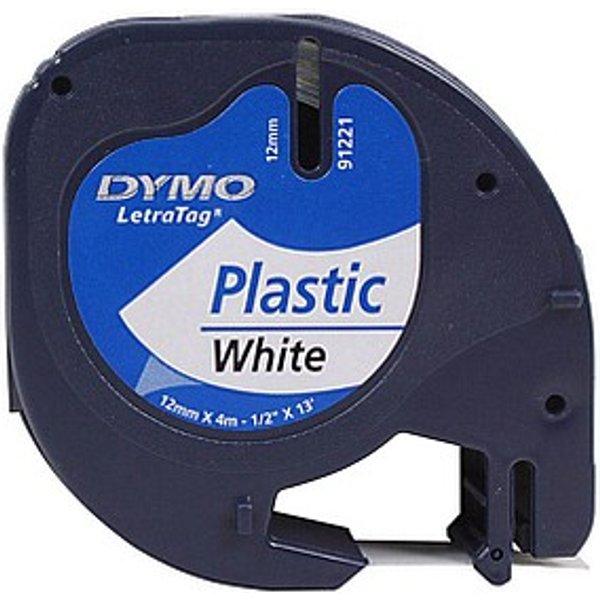 Ruban à écrire DYMO LetraTAG plastique, 1,2 cm x 4 m