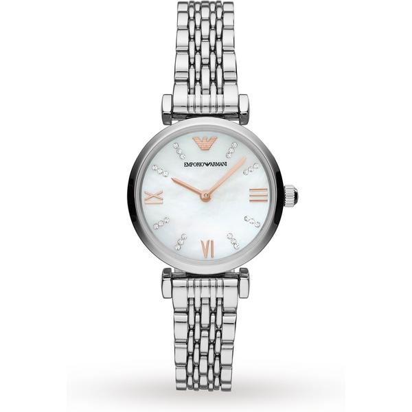 Armani Gianni T-Bar Stainless Steel Bracelet Ladies Watch AR11204
