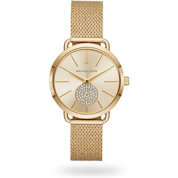 Michael Kors Mesh Rose Gold Tone Ladies Watch MK3844