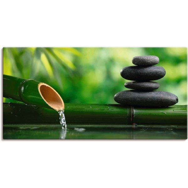 Artland Wandbild »Bambusbrunnen und Zen-Stein«