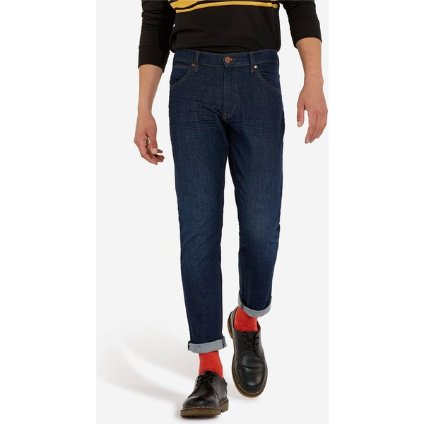 Wrangler Jean, Slim Fit Homme Bleu Denim Foncé L34/W36