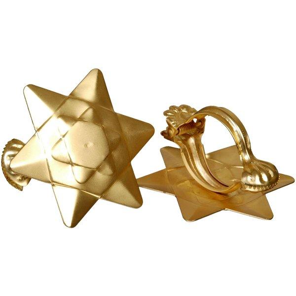 Donauklammern Motiv Orbit für Gardinenstangen Farbe:gold matt
