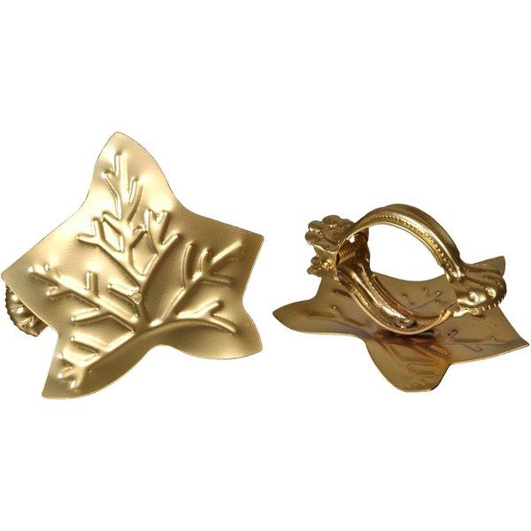 Donauklammern Motiv Blatt für Gardinenstangen Farbe:gold matt