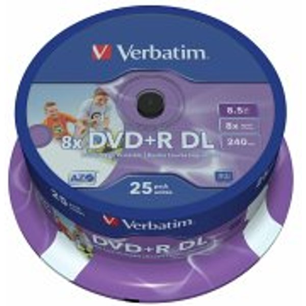Verbatim DVD+R DL 8.5GB Storage Media (43667)