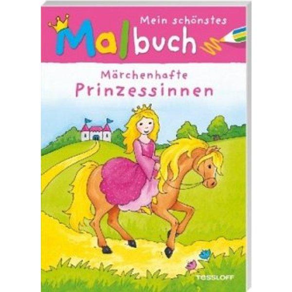 TESSLOFF livre à colorier princesses 28x20 cm
