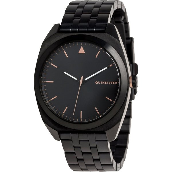 Quiksilver The PM Metal Analogue Watch - Black / Rose