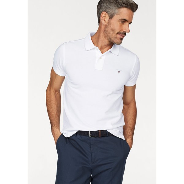 Gant Oxford Pique Rugger Polo T Shirt White