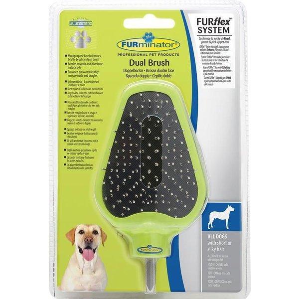 FURminator FURFlex Doppelbürsten-Aufsatz für Hunde
