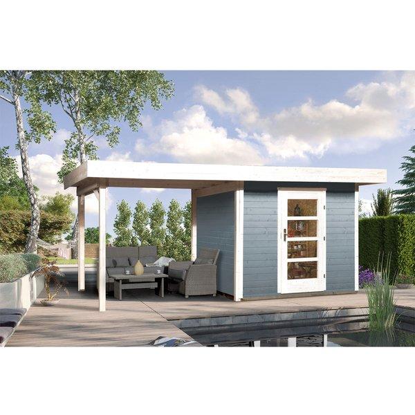 Designhaus 172 B mit Anbau 300 cm Größe:Größe 1 Farbe:grau