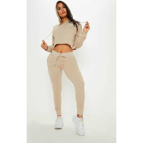 PrettyLittleThing - cropped hooded knitted lounge set - 1