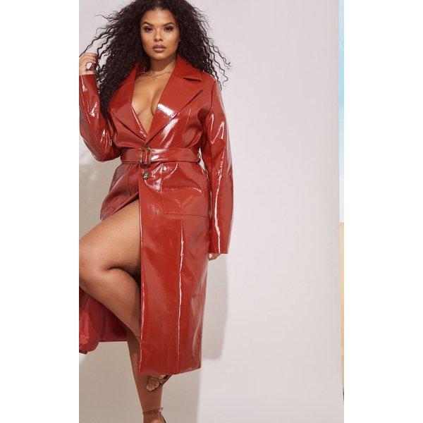 PrettyLittleThing - vinyl trench coat - 1