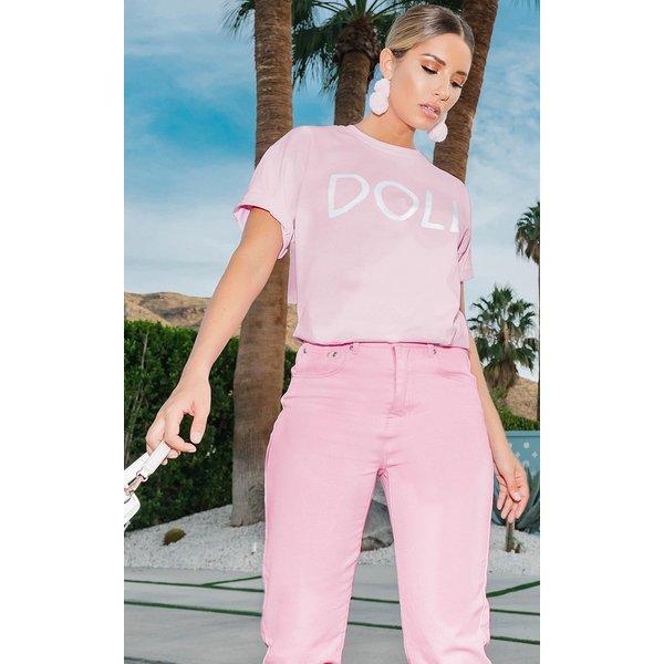 PrettyLittleThing - doll slogan oversized t shirt - 1