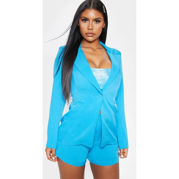 PrettyLittleThing - fitted suit woven blazer - 1