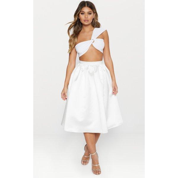 PrettyLittleThing - satin full midi skirt - 1