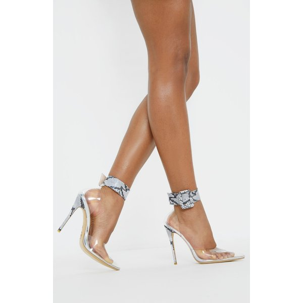 PrettyLittleThing - cuff detail clear court shoes - 1