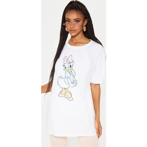 PrettyLittleThing - daisy duck print oversized t shirt - 1
