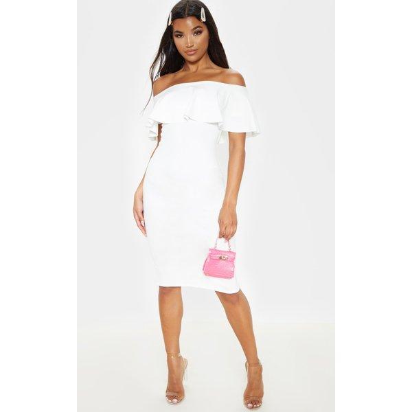 PrettyLittleThing - celinea  bardot frill midi dress - 1