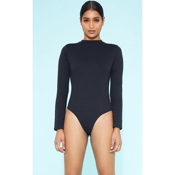 PrettyLittleThing - crew neck long sleeve bodysuit - 1