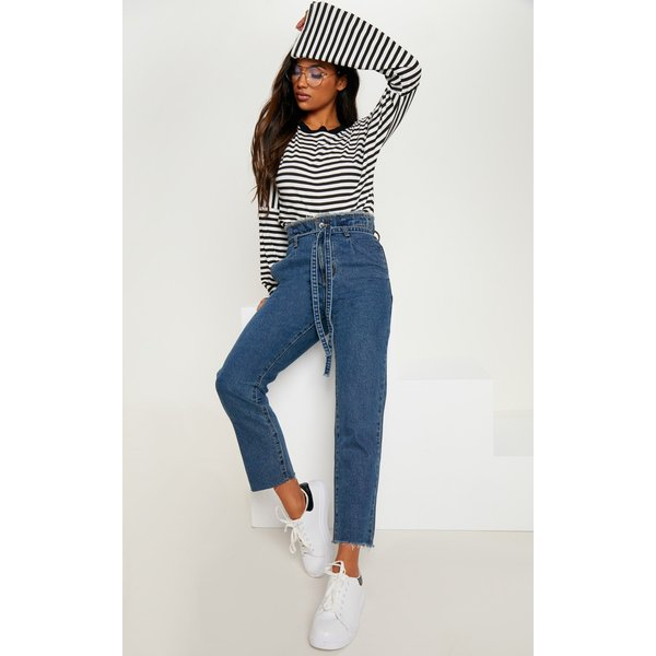 PrettyLittleThing - wash paperbag jeans - 1