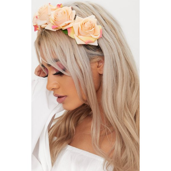 PrettyLittleThing - floral elasticated headband - 1