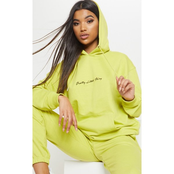 PrettyLittleThing - embroidered oversized hoodie - 1