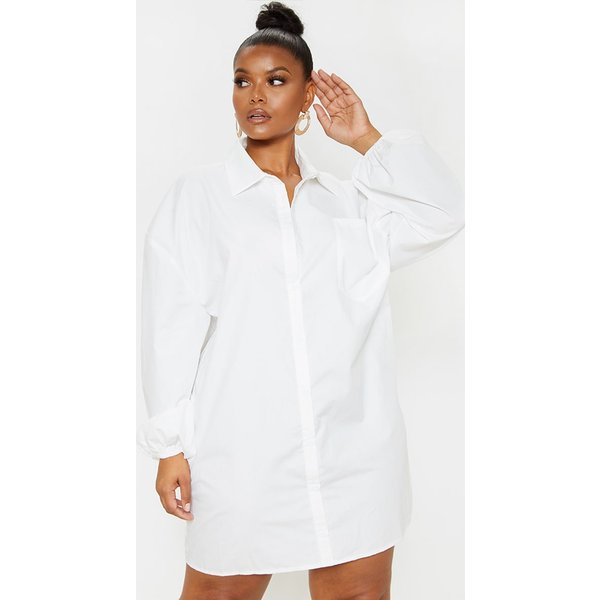 PrettyLittleThing - oversized puff sleeve shirt dress - 1