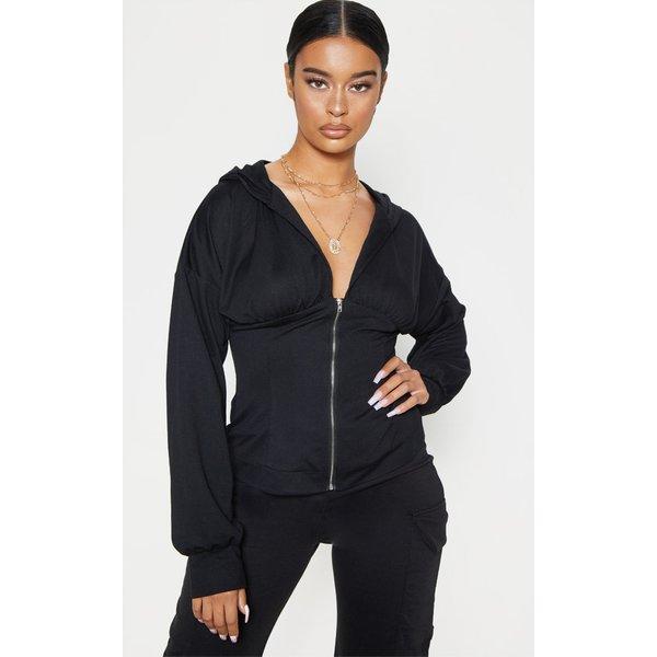PrettyLittleThing - hoodie  à zip et détail froncé - 1