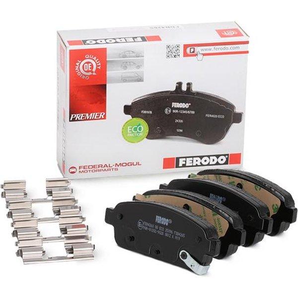 Ferodo FDB4265 Brake Pad Set Rear Axle Premier Car