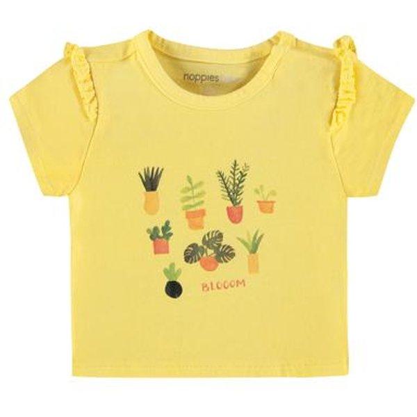 noppies T-shirt Springville Limelight - gelb - Gr.86 - Mädchen