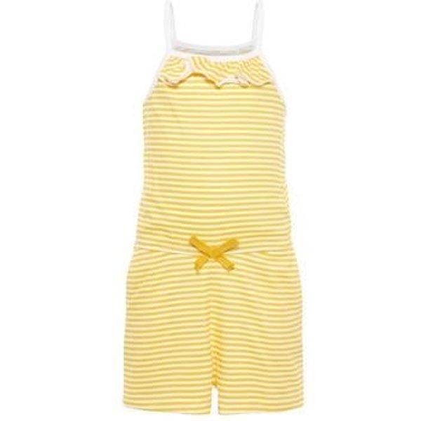 name it Girls Jumpsuit Vigga bright white stripe - gelb - Gr.92 - Mädchen