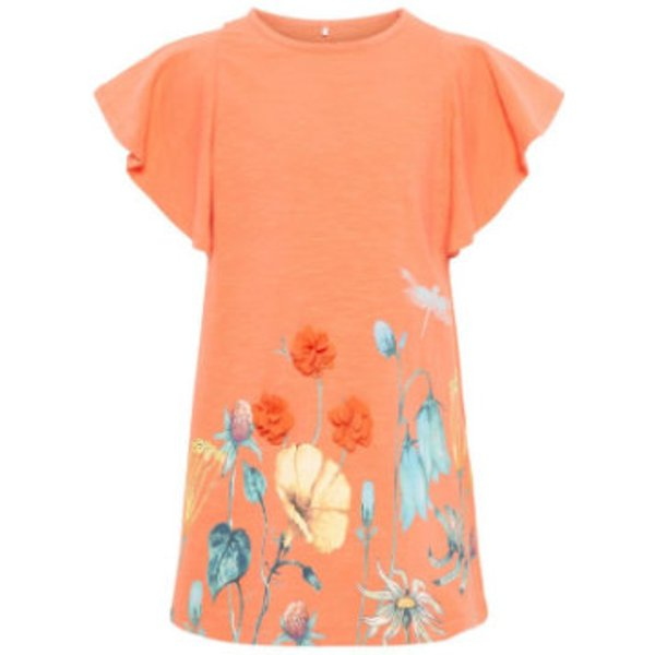 name it Girls T-Shirt Halizette Emberglow - rosa/pink - Gr.104 - Mädchen