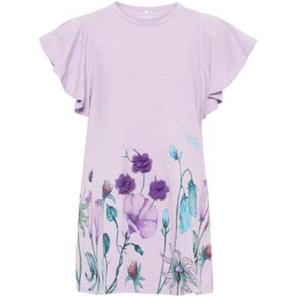 name it Girls T-Shirt Halizette Lavendula - lila - Gr.92 - Mädchen