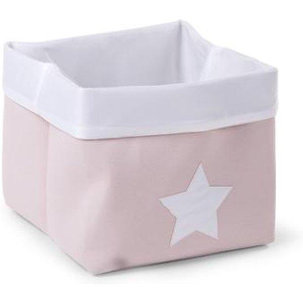 Childwood Panier Pliable Soft Pink White 32x32x29