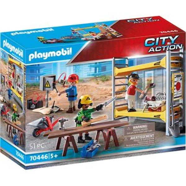PLAYMOBIL® 70446 Baugerüst mit Handwerkern