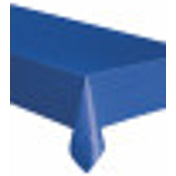 Nappe rectangulaire en plastique bleu 137 x 274 cm